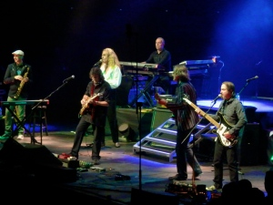 Lee right, with Steve Hackett